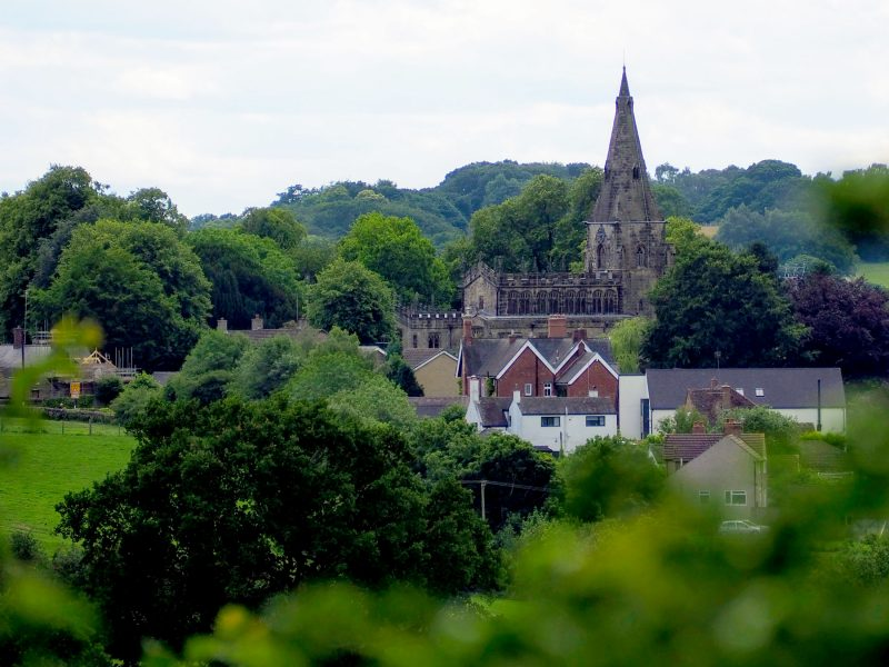 View of Horsley Derbyshire